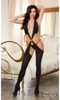 Open Side Plunging Bodystocking  DG-0241