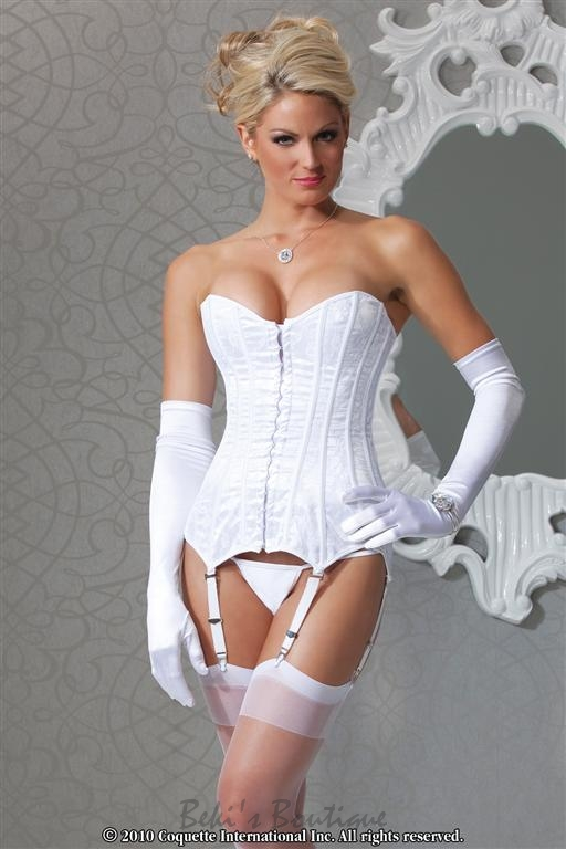 Lace Over Satin Corset  COQ-1057b