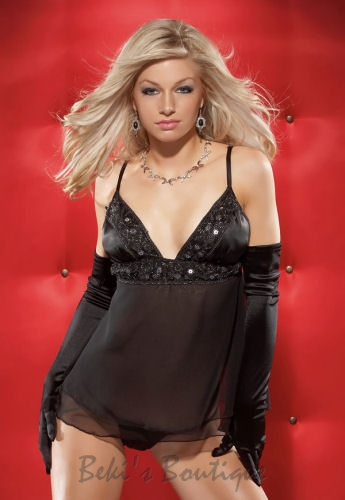 Babydoll Top & G-string  COQ-3459