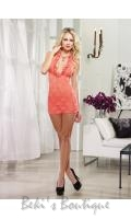 Stretch Lace Halter Mini Dress  DG-6291