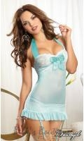 Retro Stretch Mesh Garter Slip  DG-9679