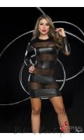 Mesh & Wet Look Dress  ESP-4320