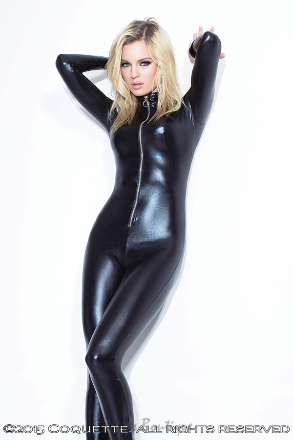 Wet Look Catsuit  COQ-D991