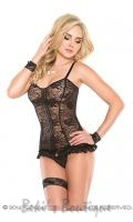 Stretch Lace Corset & G-string  COQ-1999