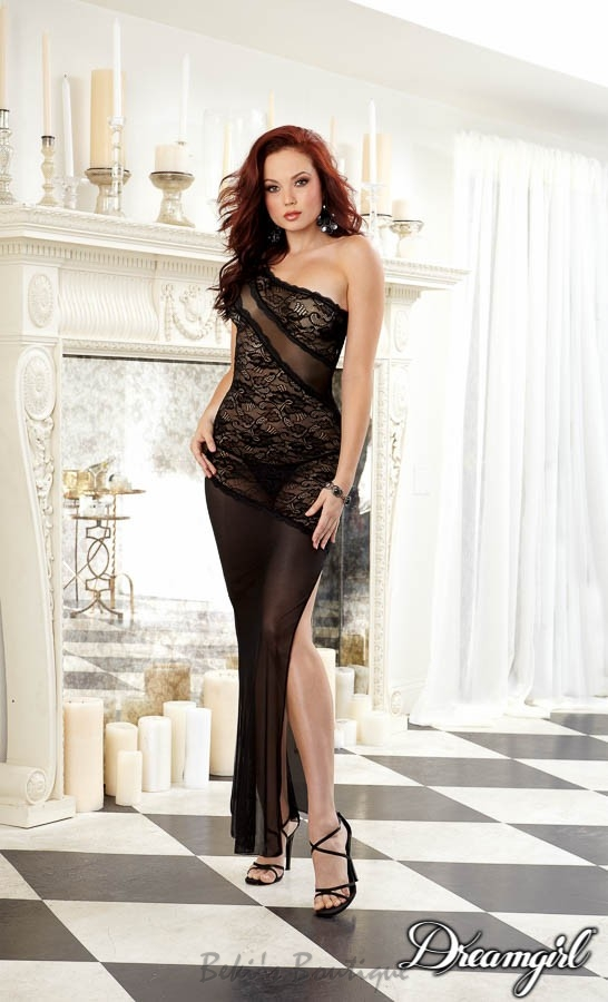 Stretch Lace Gown  DG-9681