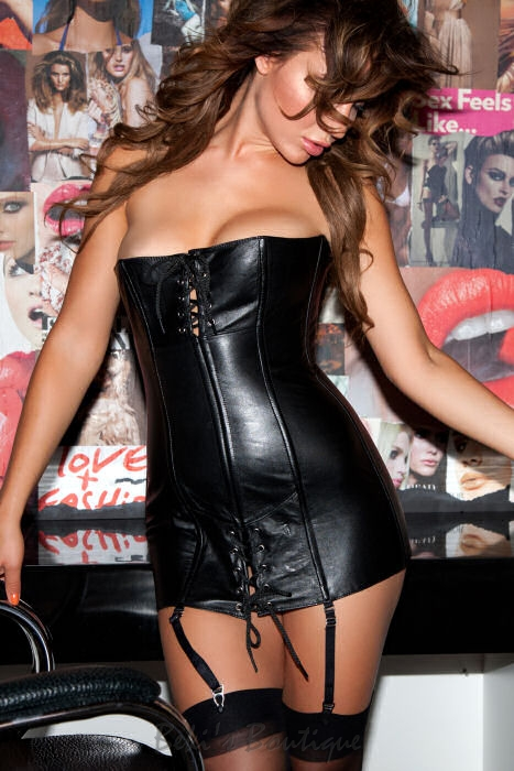 Leather Corset Dress  AL-17-105