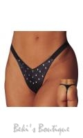 Leather Thong With Rivets  AL-3-407