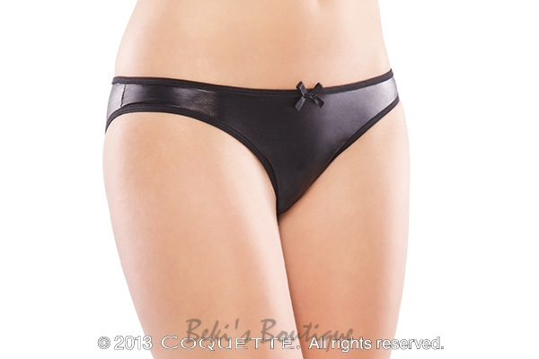 Wet Look Crotchless Panty  COQ-D9267