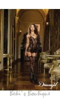 Lace Fishnet Garter Dress  DG-0145