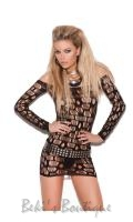 Ripped Net Mini Dress  EM-8674