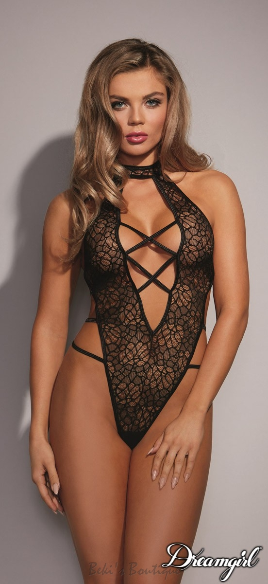 Strappy Lace Teddy  DG-10614