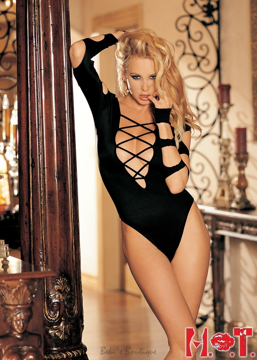 Strappy Cut-Out Bodysuit  SH-90211