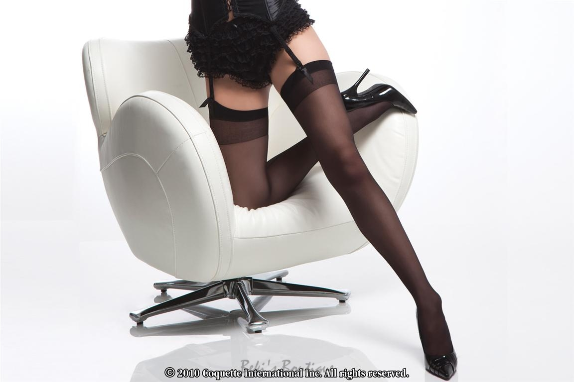 Sheer Back Seam Thigh High  COQ-1756