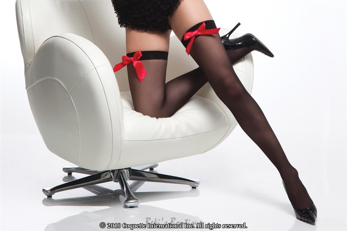 Sheer Stocking w/ Front Bow  COQ-1767